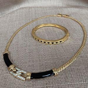 Vintage 80s Necklace & Bracelet 2pc Set
